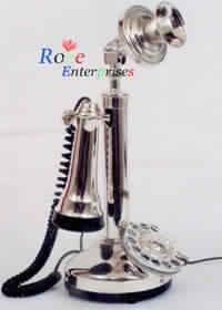 Brass Candlestick Telephone Silver Polish