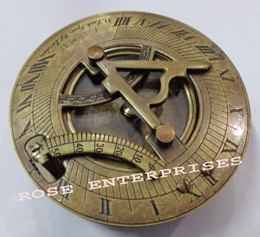 Brass Drum Sundial Compass