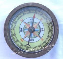 Brass Open Face Compass