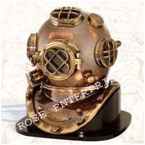 Diving/Divers Helmet with Wooden Base Mark V