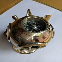 Helmet Compass with Pen