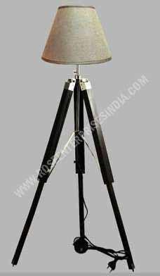 Nautical Tripod Wooden Floor Lamp