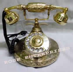 Nautical Vintage Brass Telephone