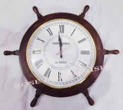 Ship Wheel Wall Clock