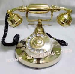 Victorian Style Brass Telephone