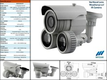 Varifocal Lens Weather proof IR Camera