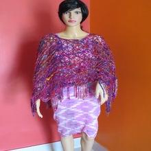 poncho of sari waste yarn