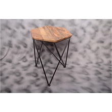 antique design and style wooden tripod stool