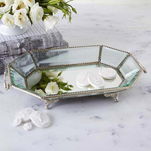Beveled glass tray