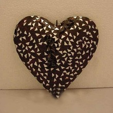 black mosaic christmas hanging ornament