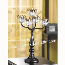 Black wedding table candelabra