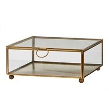 Brass Glass Box