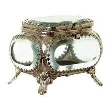 brass glass jewellery box