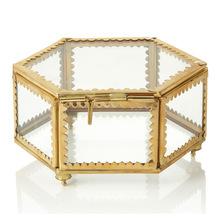 brass jewelry and storage box