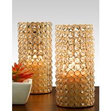 candle pillar holder crystal