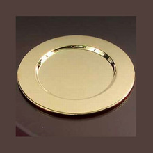 charger gold plate