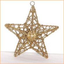 christmas star gold glitter finish