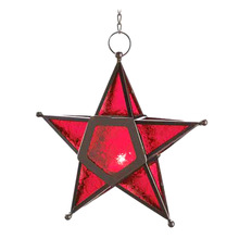 christmas star hanging candle lantern