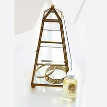Clear glass pyramid jewelry box