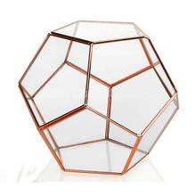 copper jewellery glass box