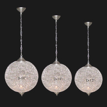 Crystal ball hanging chandelier