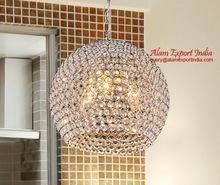 crystal bead pendant lamp