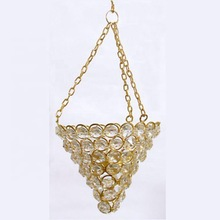 crystal beads hanging candle holder