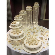 crystal chandelier wedding cake stand