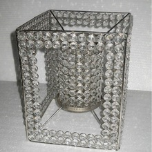 Decorative crystal tea light holder