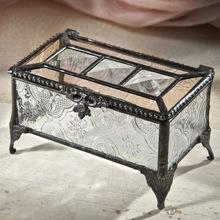 designer glass jewellery box