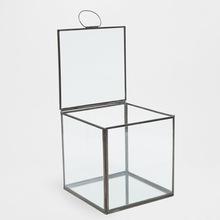 Glass box storage container