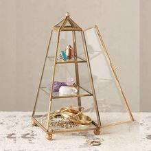 glass pyramid jewelry box