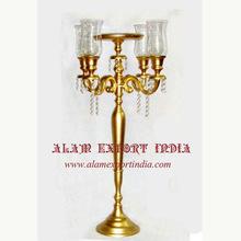 glass votive gold candelabra