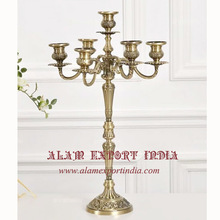 gold church candelabra