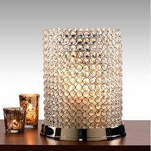 Gold Crystal wedding pillar
