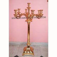 gold heavy candelabra