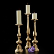 Gold metal candle stand