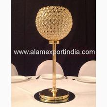 gold metal centerpiece