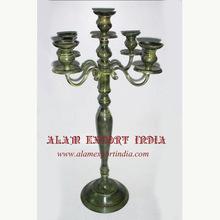 green antique candelabra
