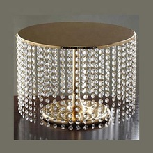 hanging crystal cake stand
