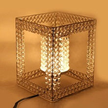 Iron crystal table lamp