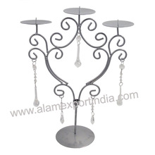Iron wire candle holder candelabra
