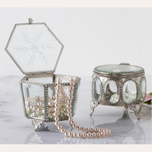 Magnifier glass jewelry box