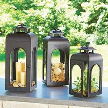mat iron candle lantern