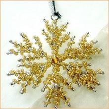 Metal and Beads Christmas Hanging Ornament