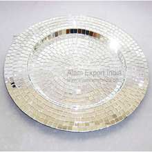 Mirror Mosaic Charger Plate
