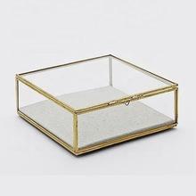 Plain glass clear jewellery box