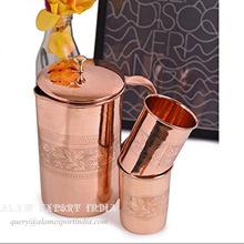 Pure Copper mule Jug Glass