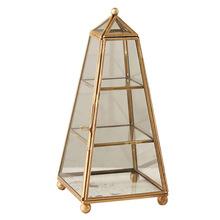 pyramid glass wedding jewellery box
