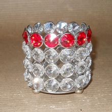 Red Crystal table Votive